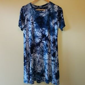Zero City tie-dyed dress cover up tunic